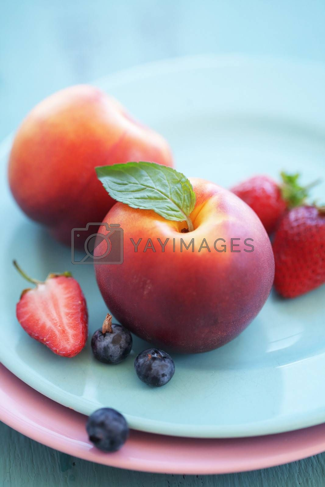 Summer fruits on a plate