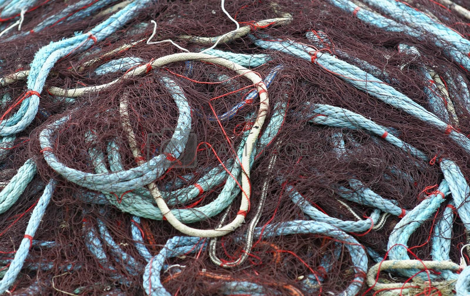 a fishing net in bulk