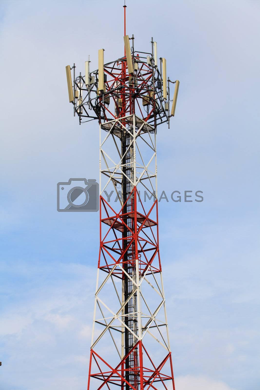 Communication Station with blue sky.