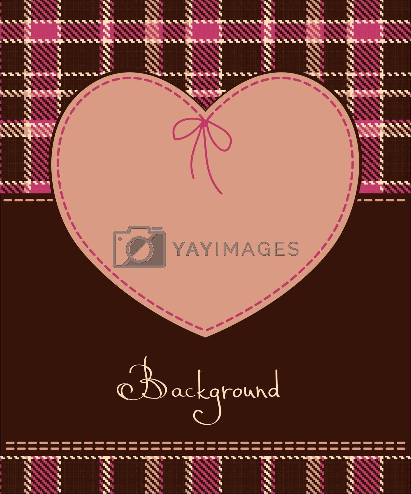 Valentine romantic vector red heart textile label