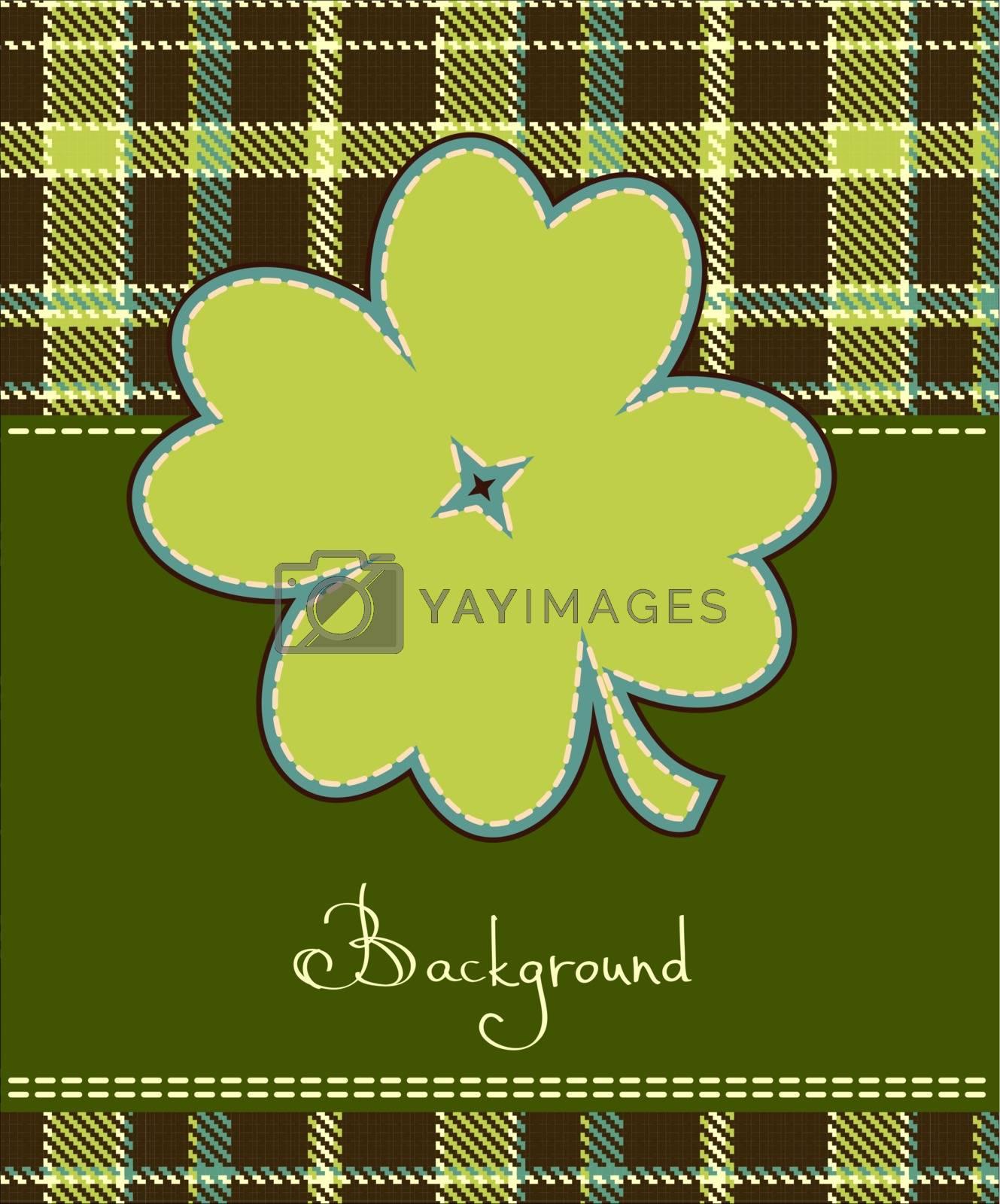 Four leaf clover textile label  by ESSL