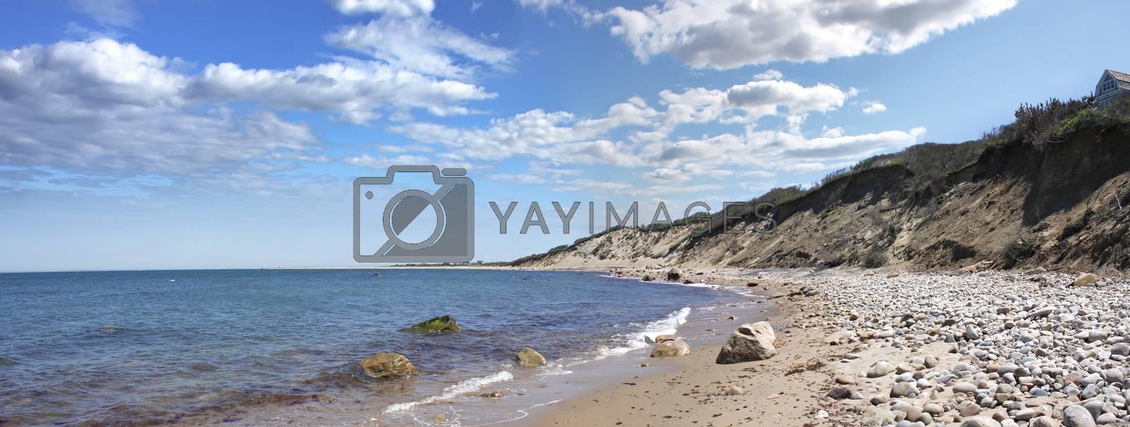 Block Island Coast Panorama by graficallyminded