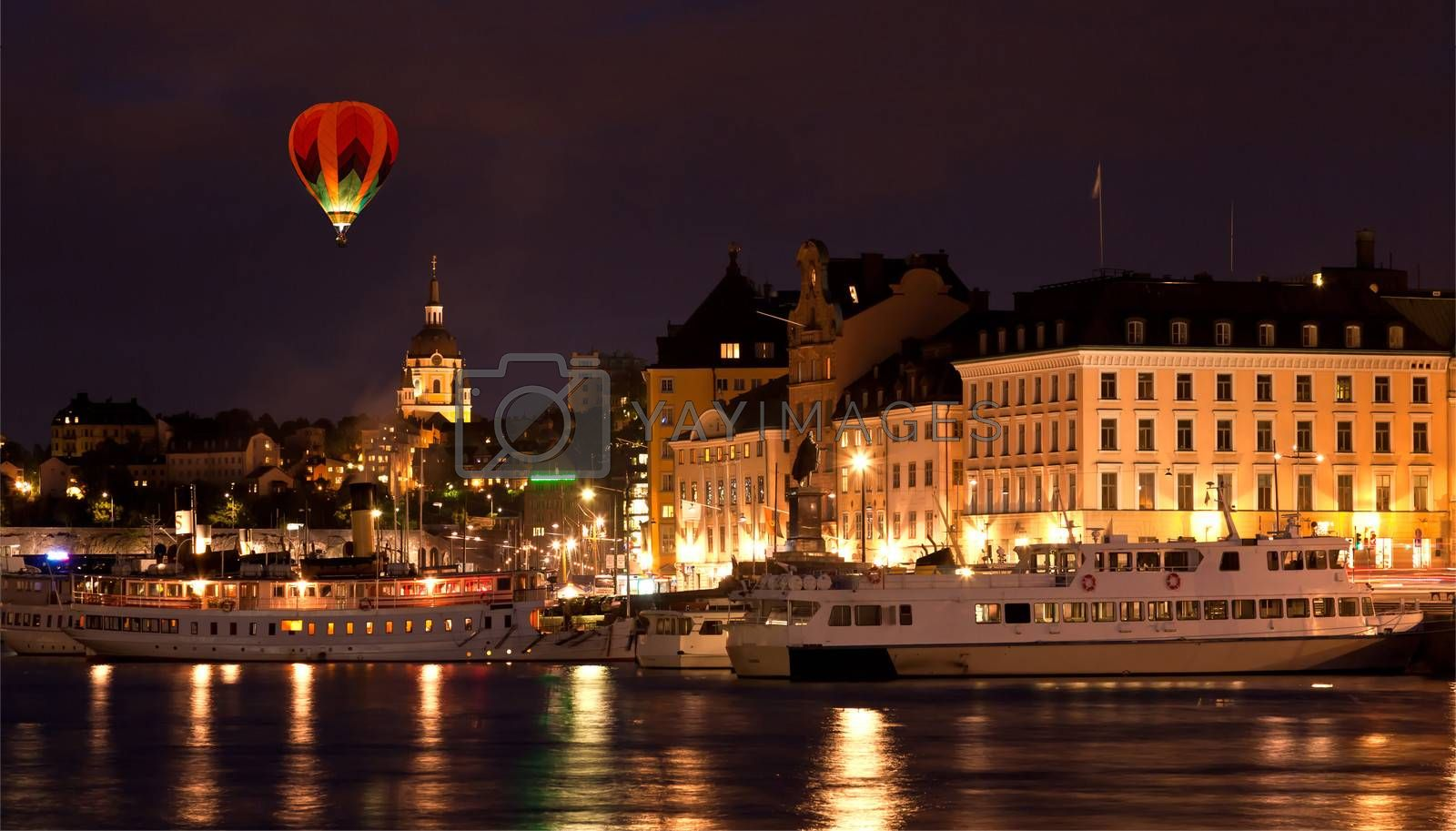 The Royal Palace in Stockholm at night
