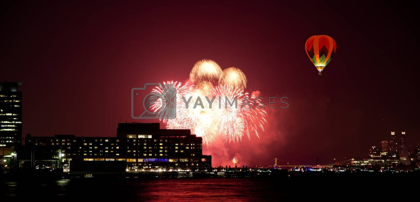 The 4th of July fireworks over the Hudson River
