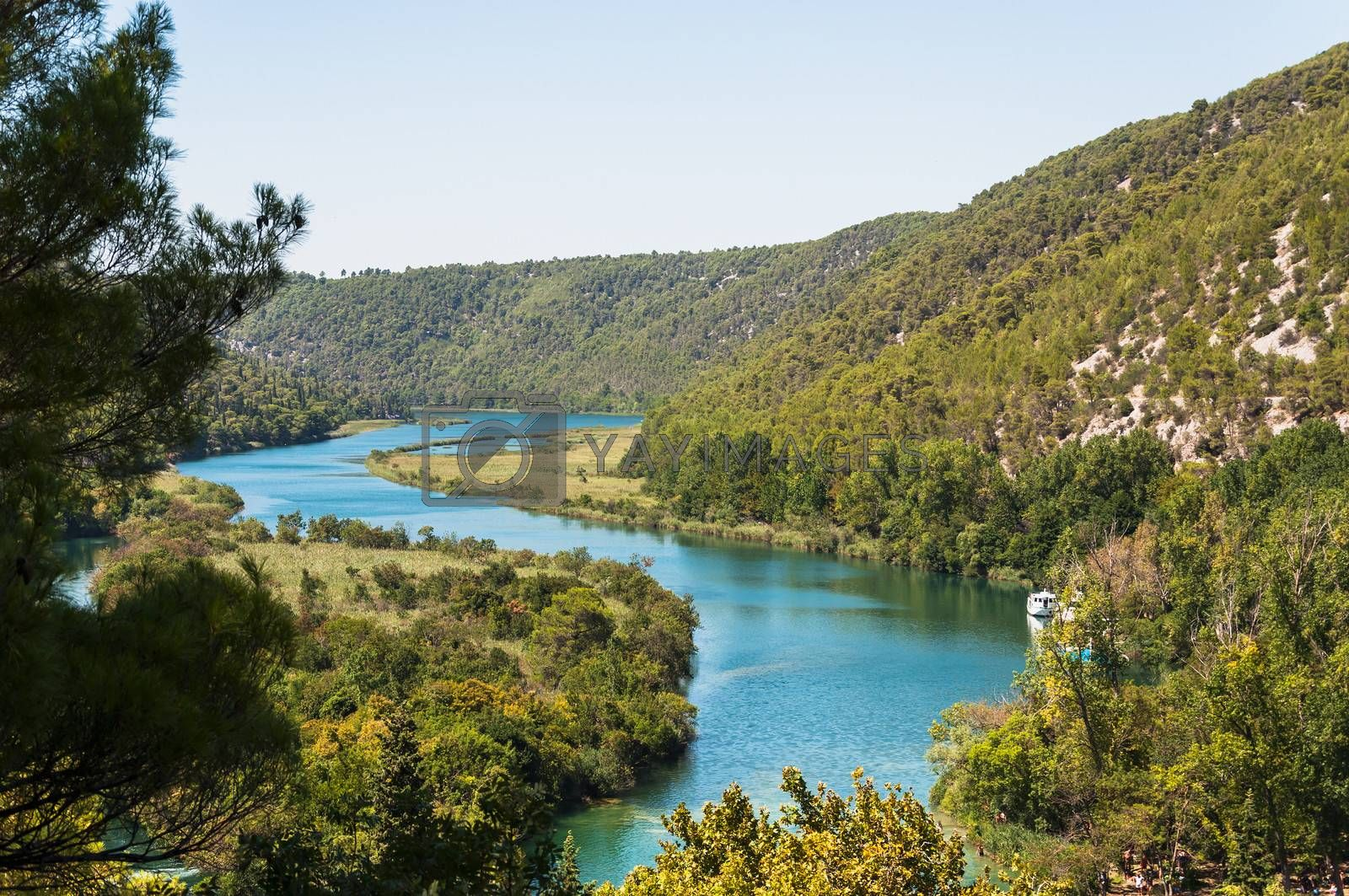Krka River in Krka National Park, Croatia