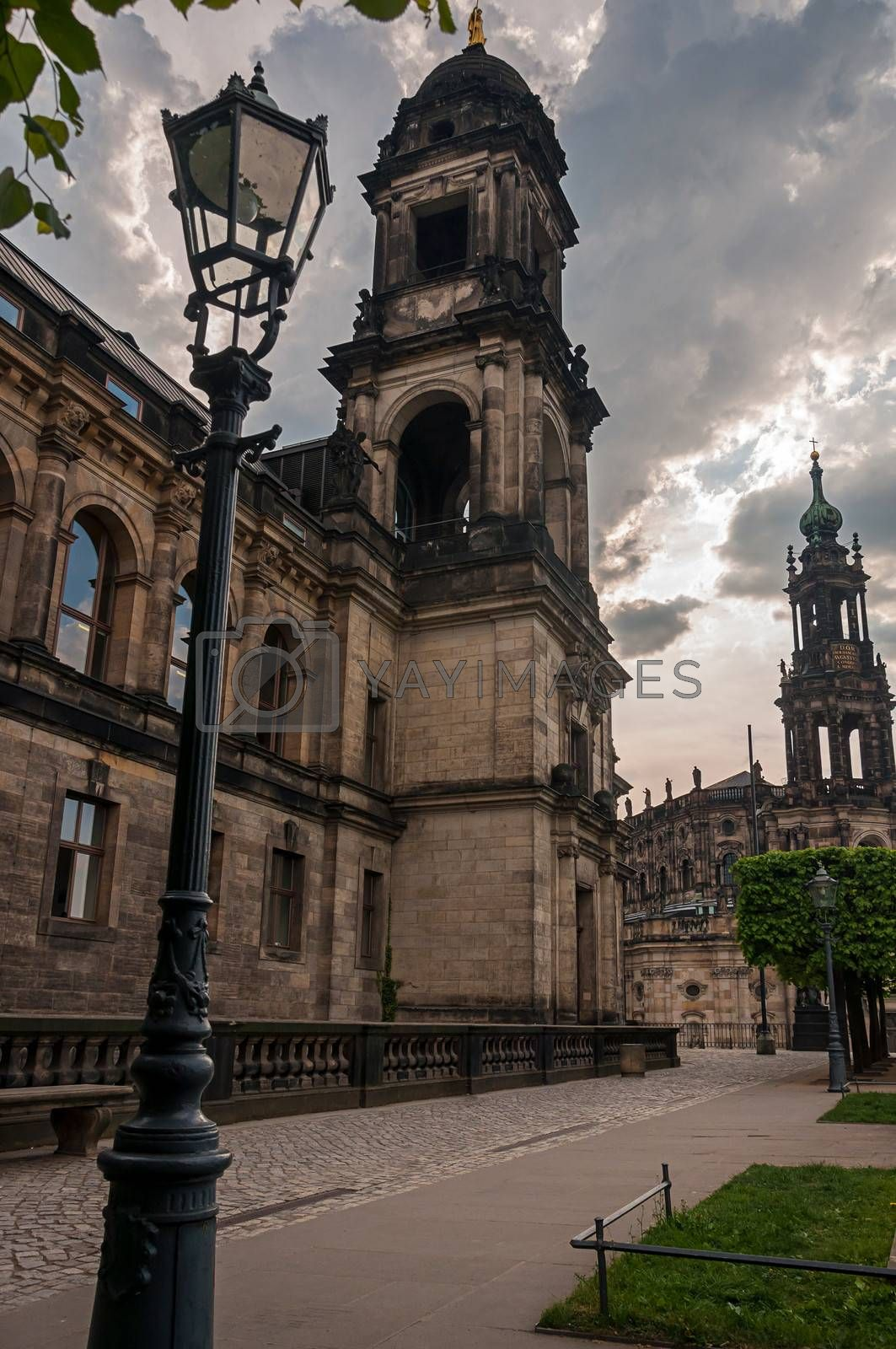 Old town, left-bank of Dresden, Germany.