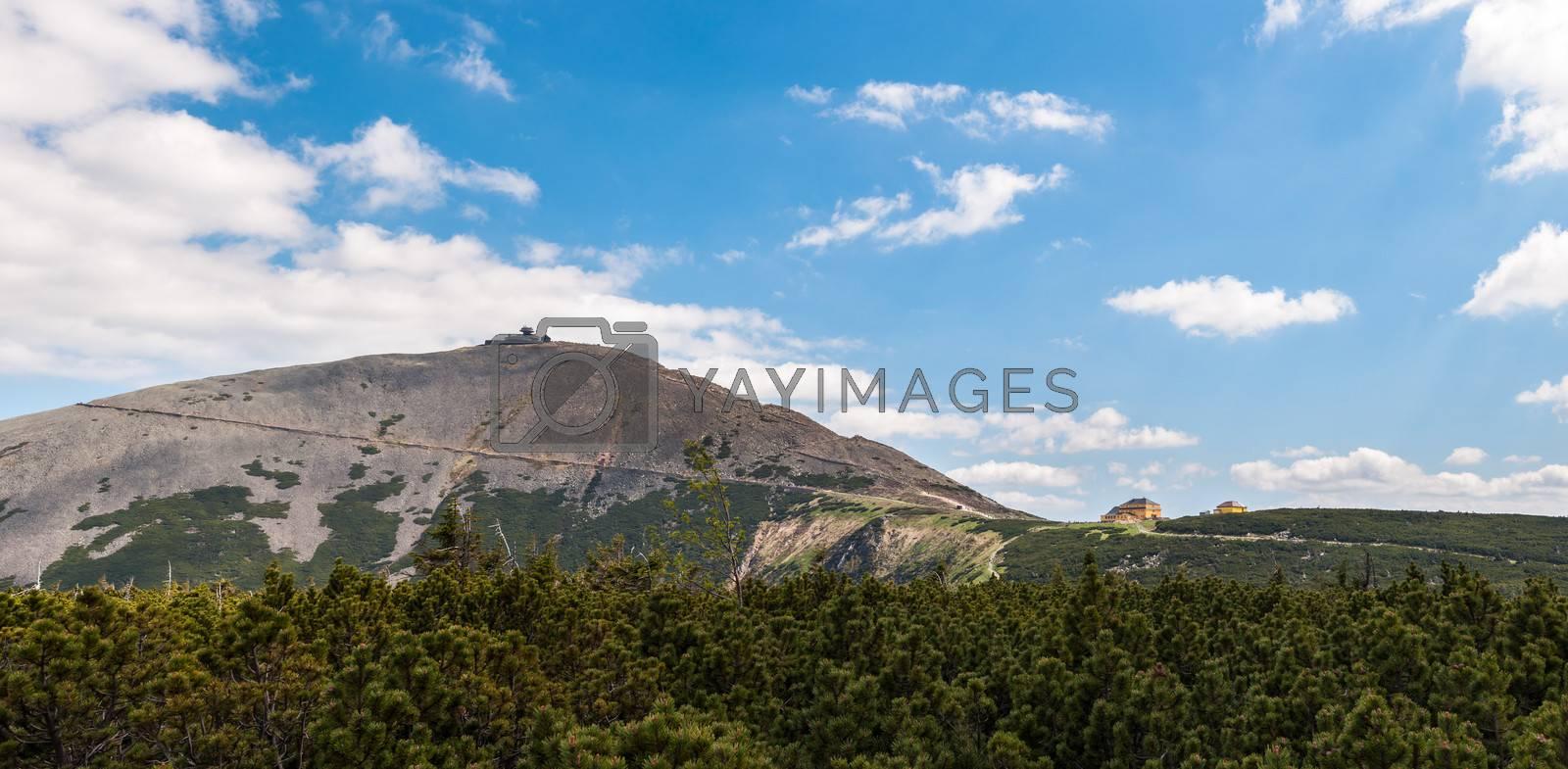 Sniezka, highes peak of Karkonosze in summer.