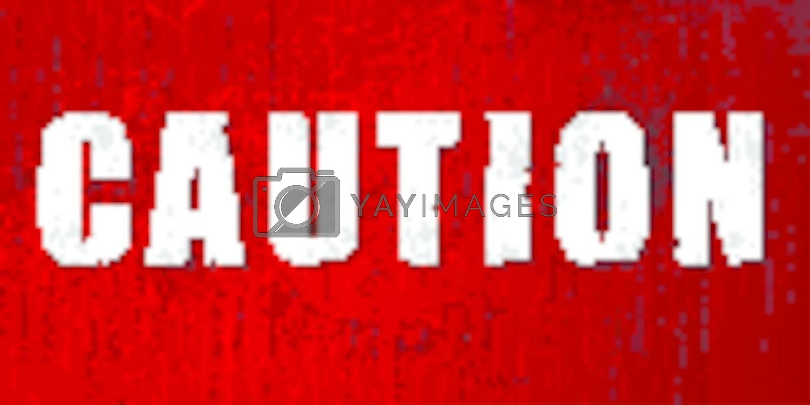 Caution sign iin vector format