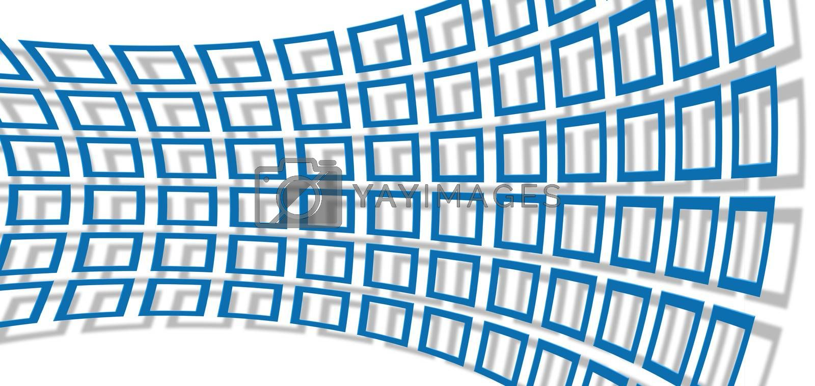 texture with blue rectangle 3d background  made in 3d software