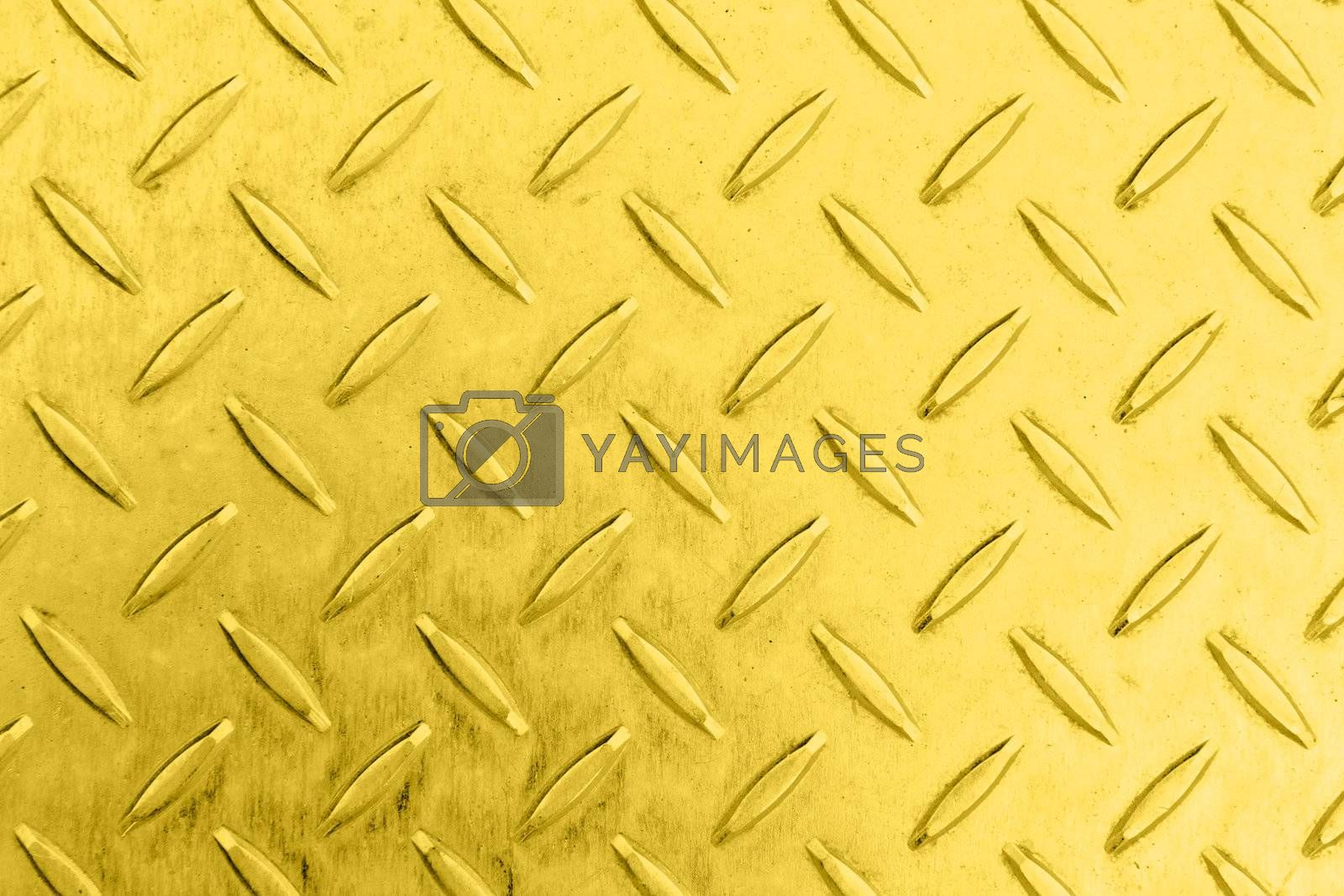Seamless steel diamond plate texture in golden color from copper