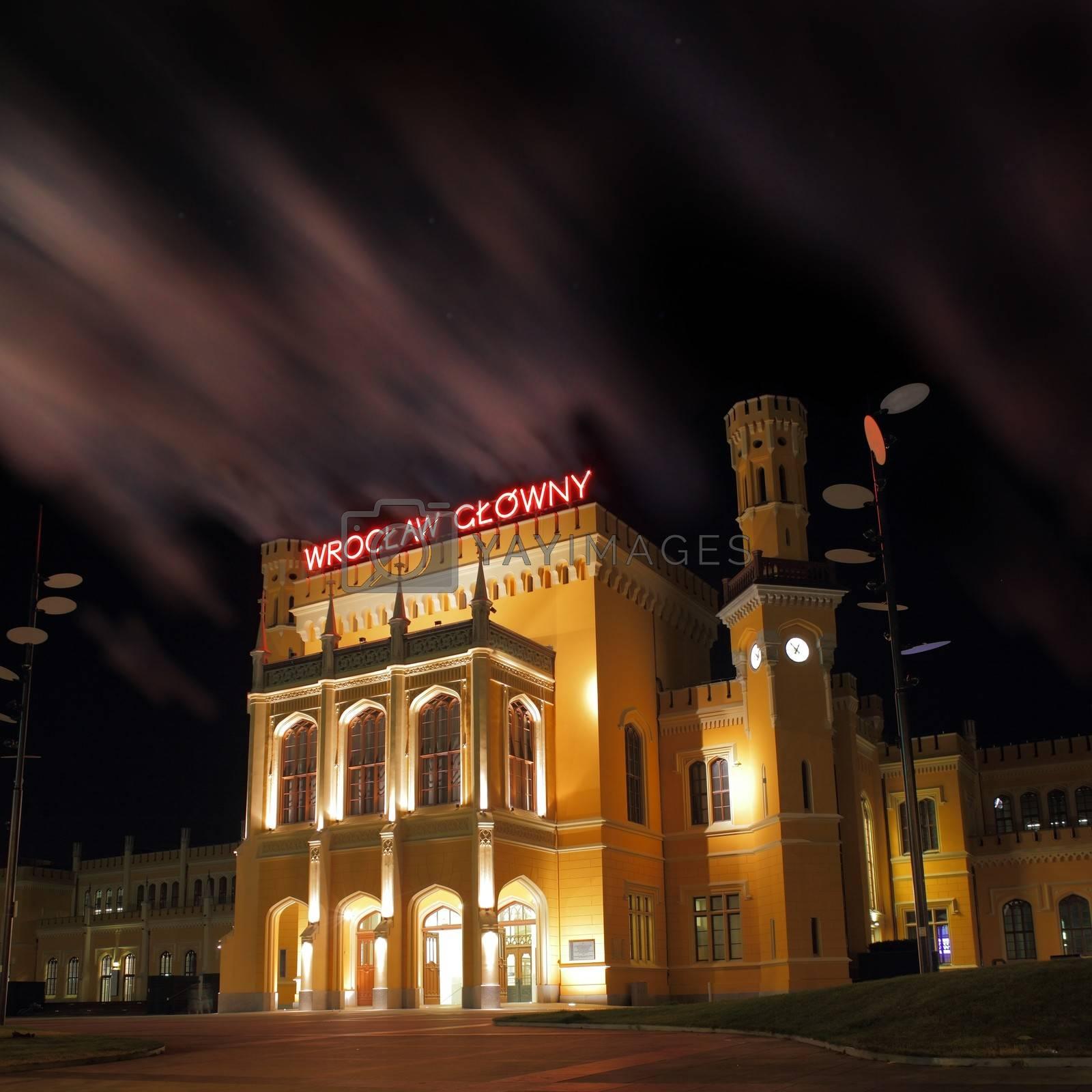 Main railway station in Wroclaw Poland