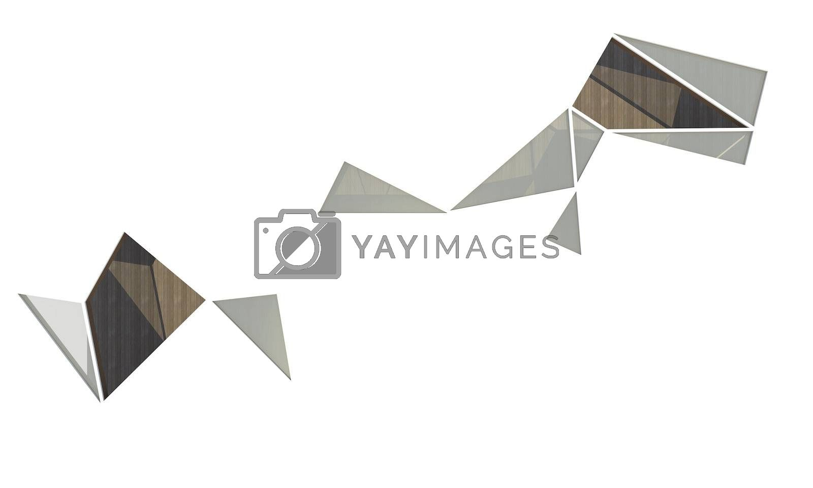Abstract organic void on white background