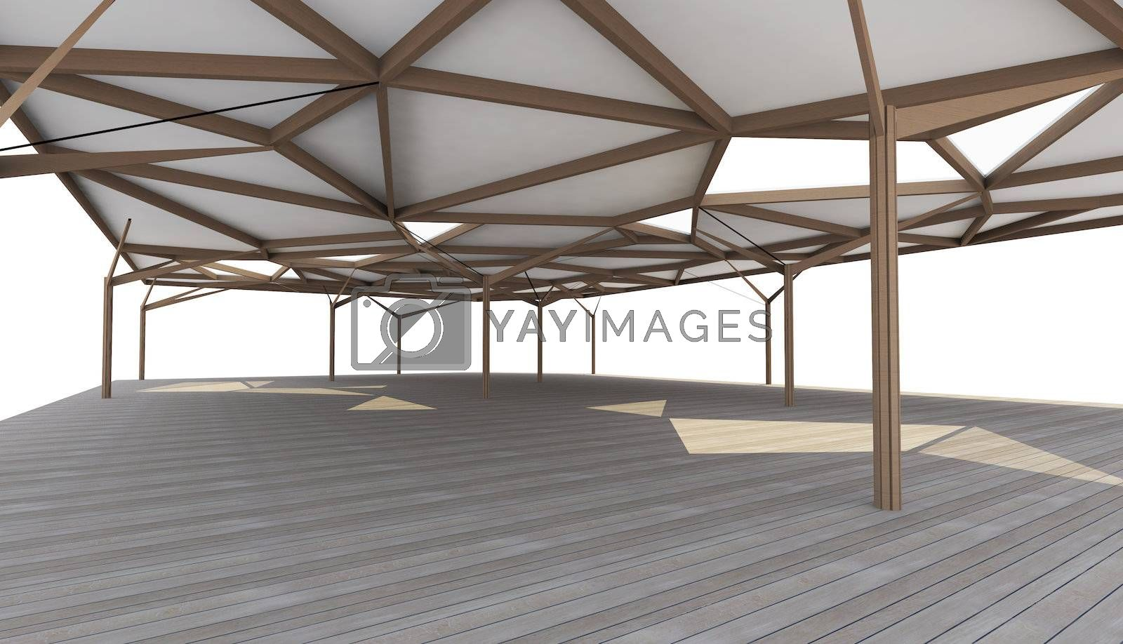 3D Rendered of Organic Architecture