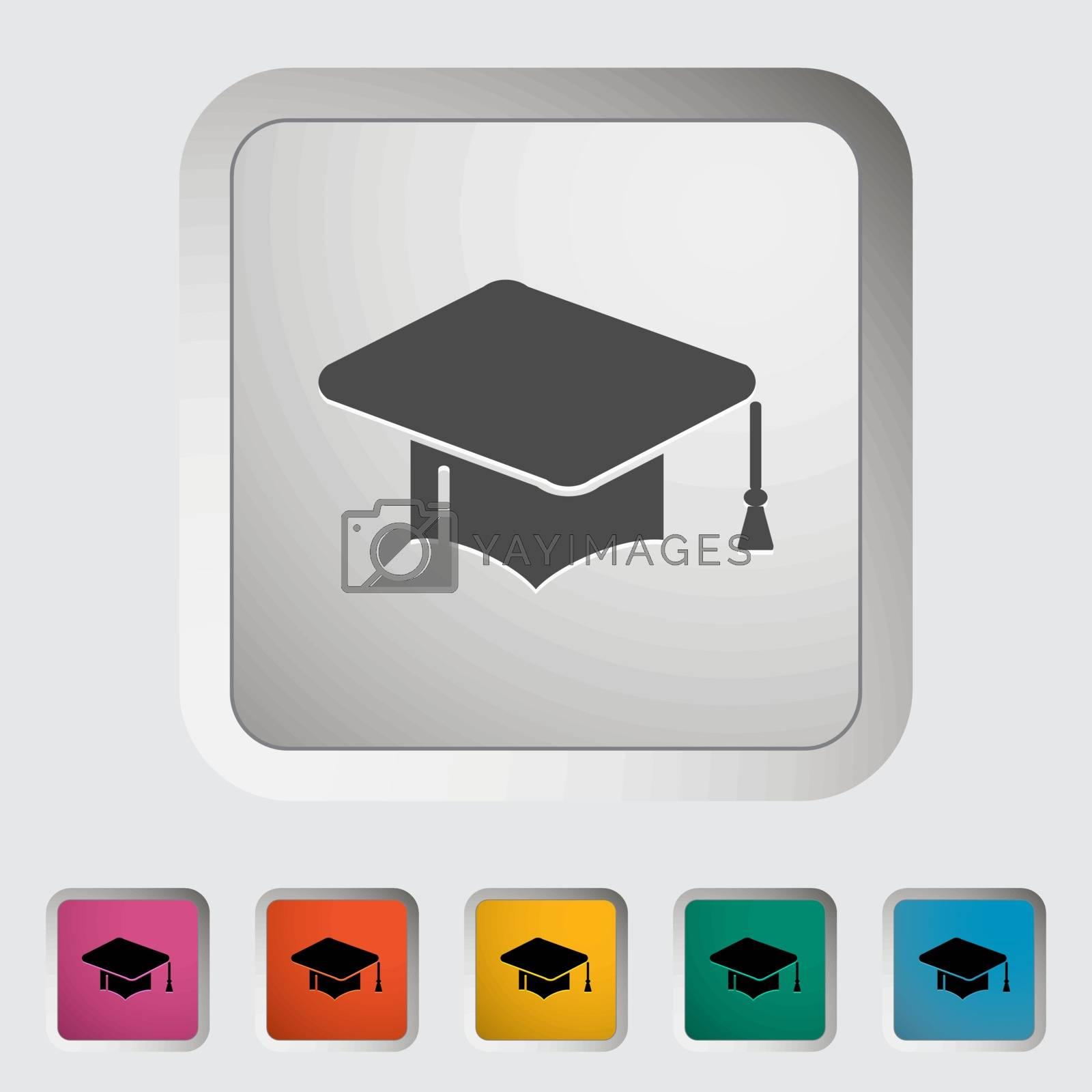 Education icon. Vector illustration.