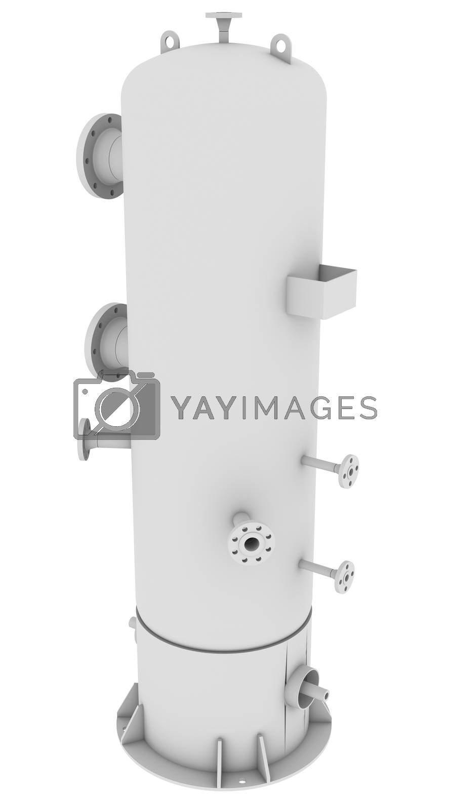 Industrial equipment. Isolated render on a white background