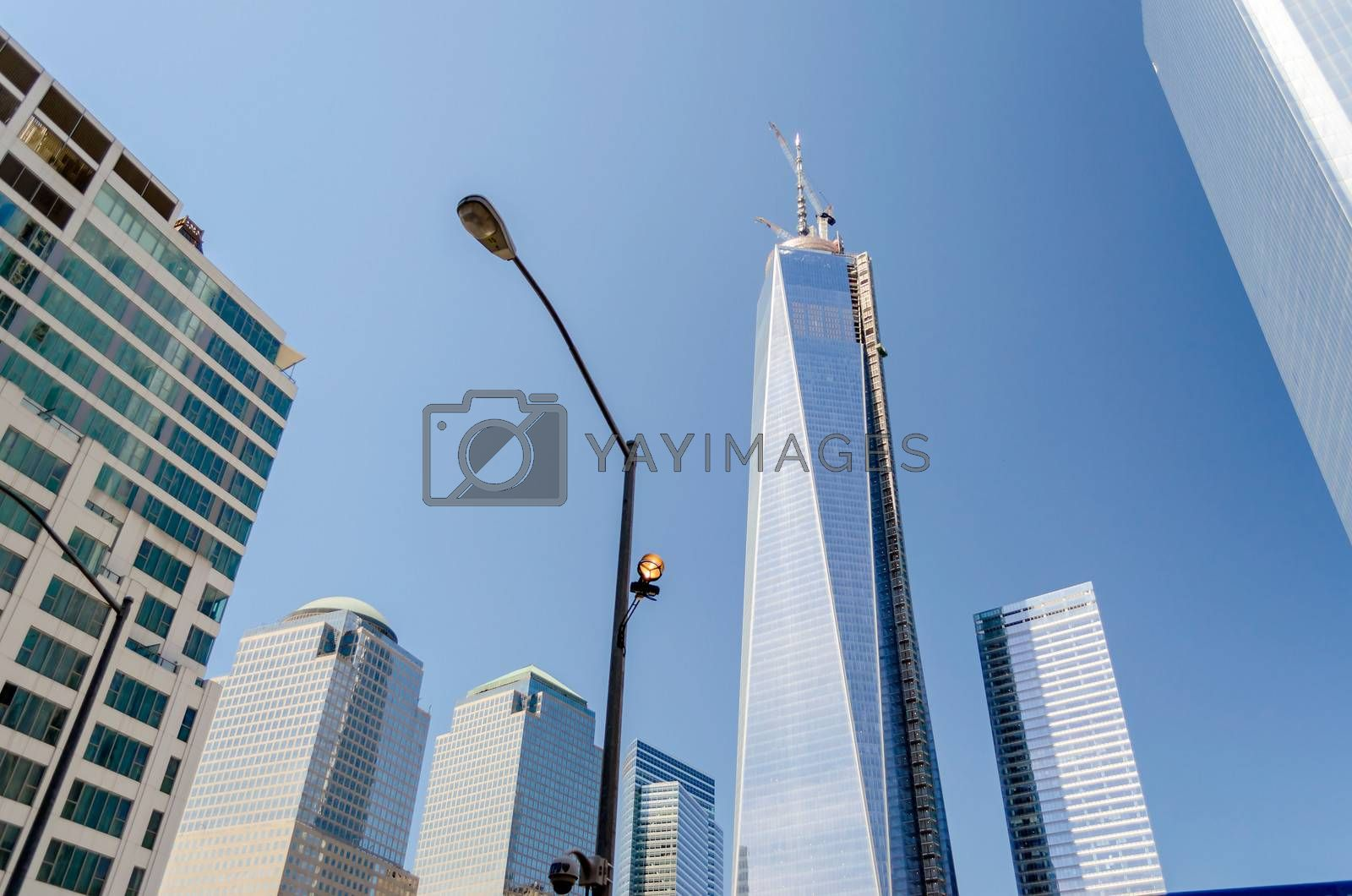 NEW YORK - MAY 27: One World Trade Center (also known as the Freedom Tower) is shown under construction on May 27, 2013 in New York City, New York.