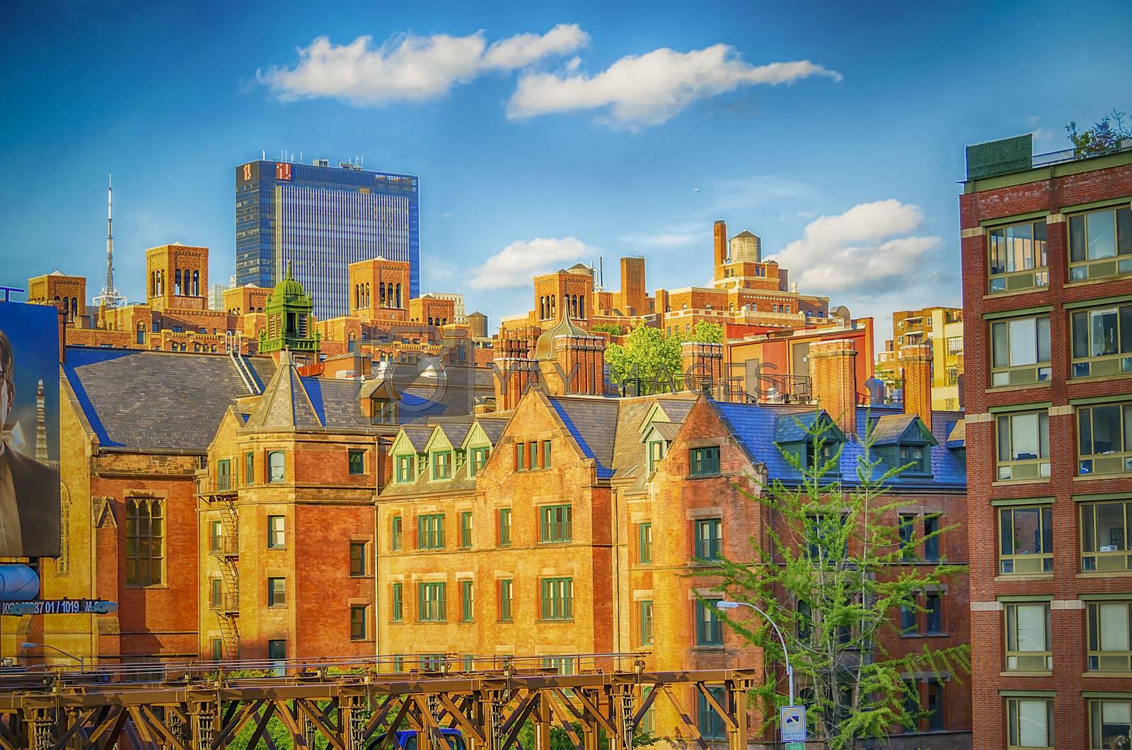 Red Brick Buildings at Chelsea, Midtown Manhattan, New York City