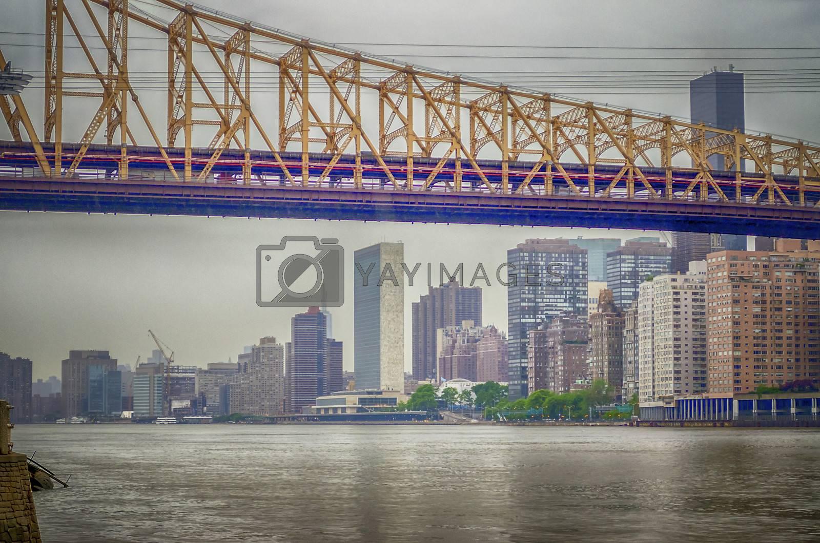 Queensboro Bridge and UN Headquarters, Manhattan