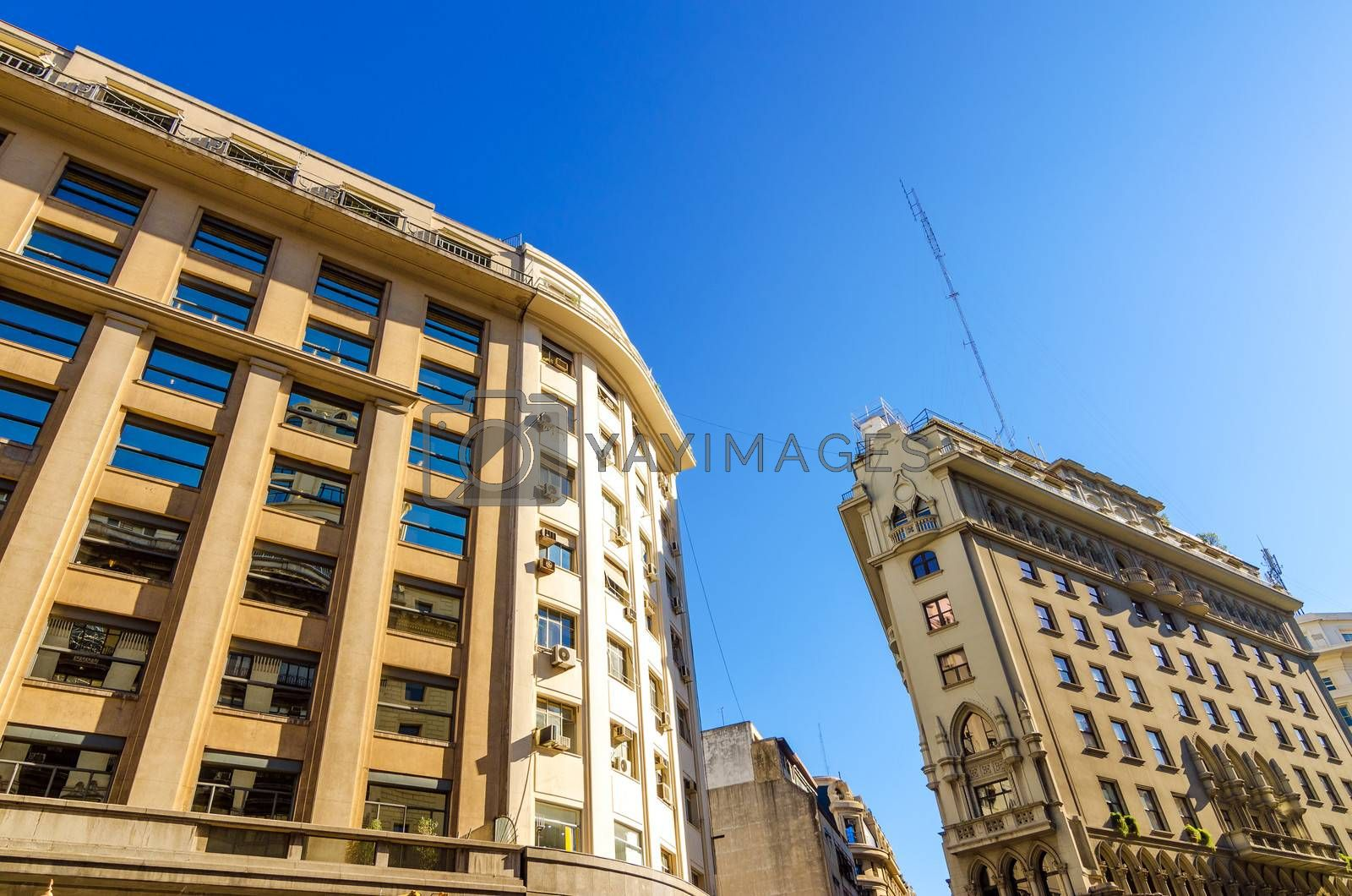Old historic buildings in the center of Buenos Aires, Argentina