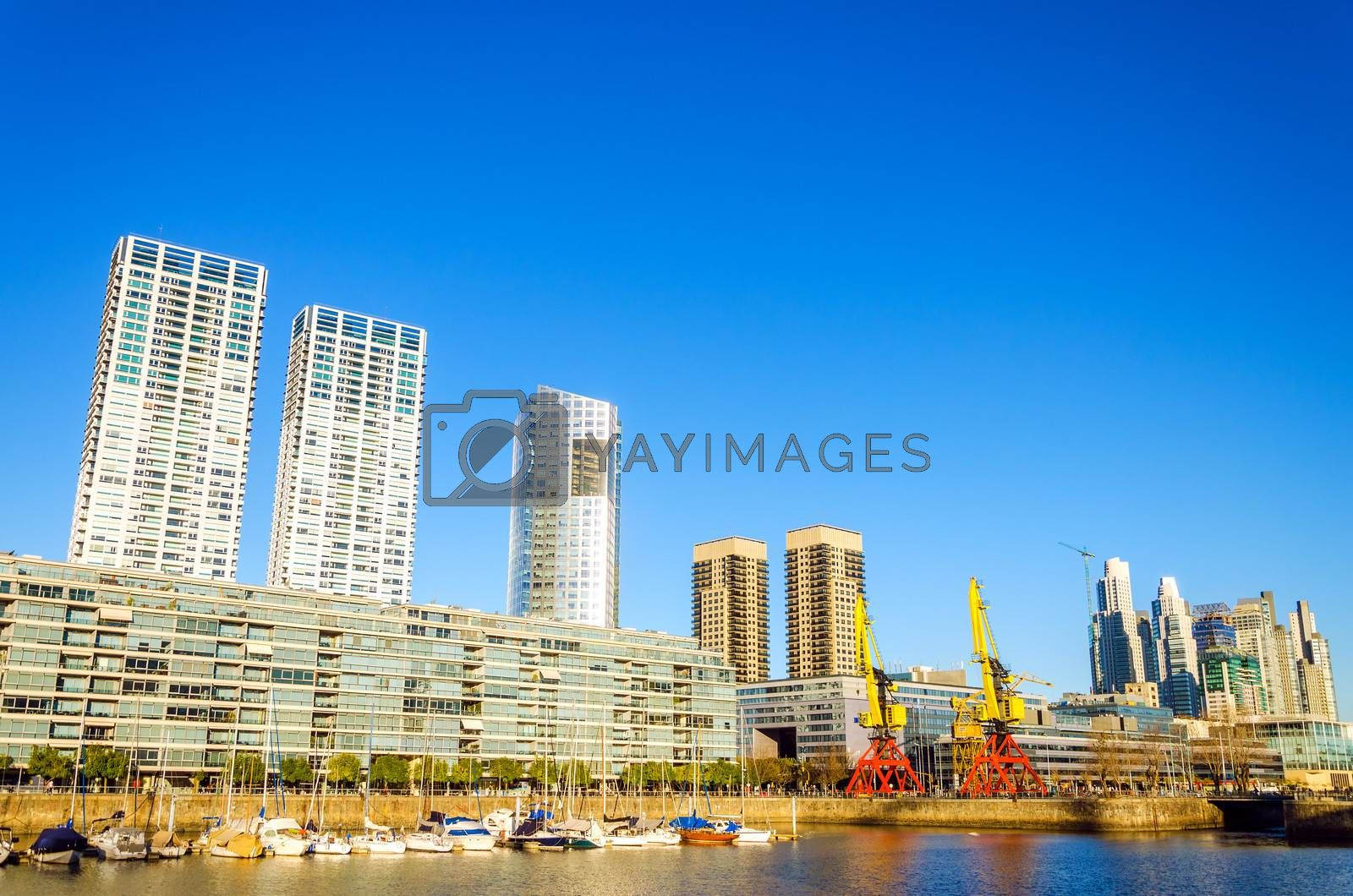 The waterfront in the Puerto Madero neighborhood of Buenos Aires