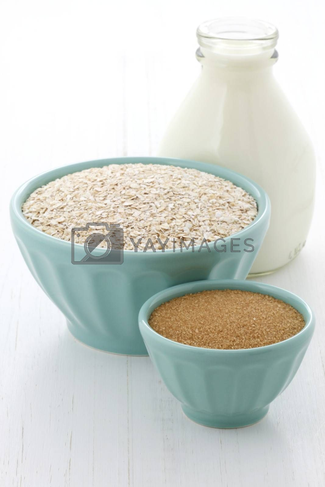 Delicious and nutritious oatmeal ingredients , the perfect healthy way to start your day.