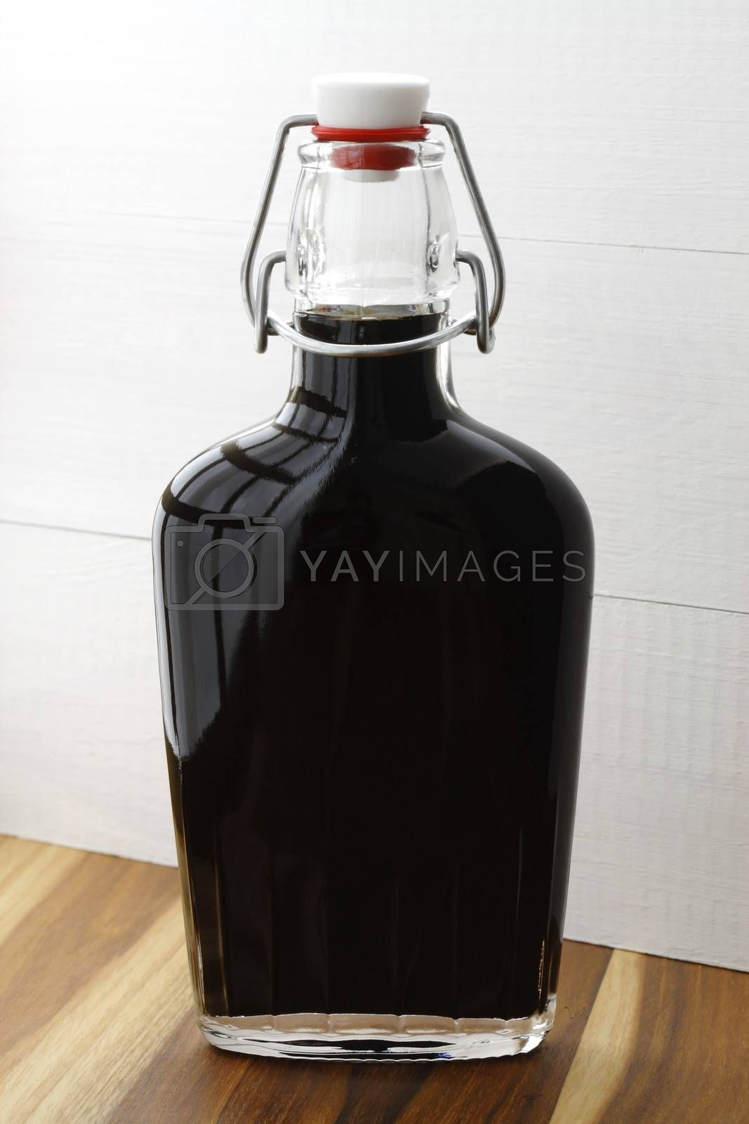 Balsamic vinegar, made from a reduction of cooked Trebbiano grape juice.