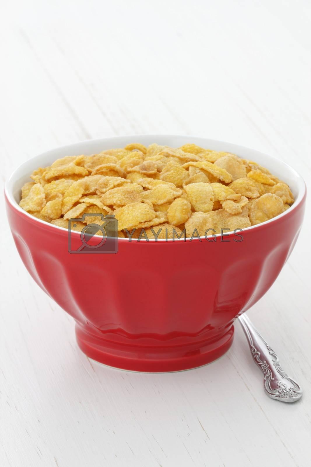 delicious and healthy wholegrain corn flakes breakfast.