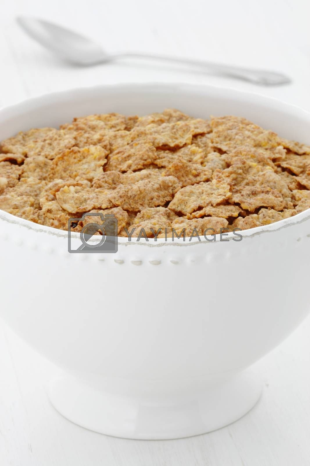 whole wheat cereal, delicious and healthy breakfast, often eaten in combination with yogurt or milk.