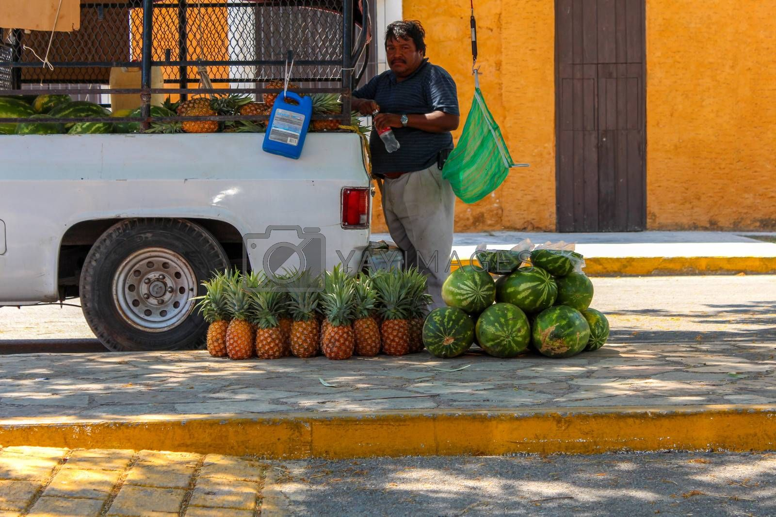 "Scene seen in all Yucatan Peninsula little towns called ""Pueblos"""