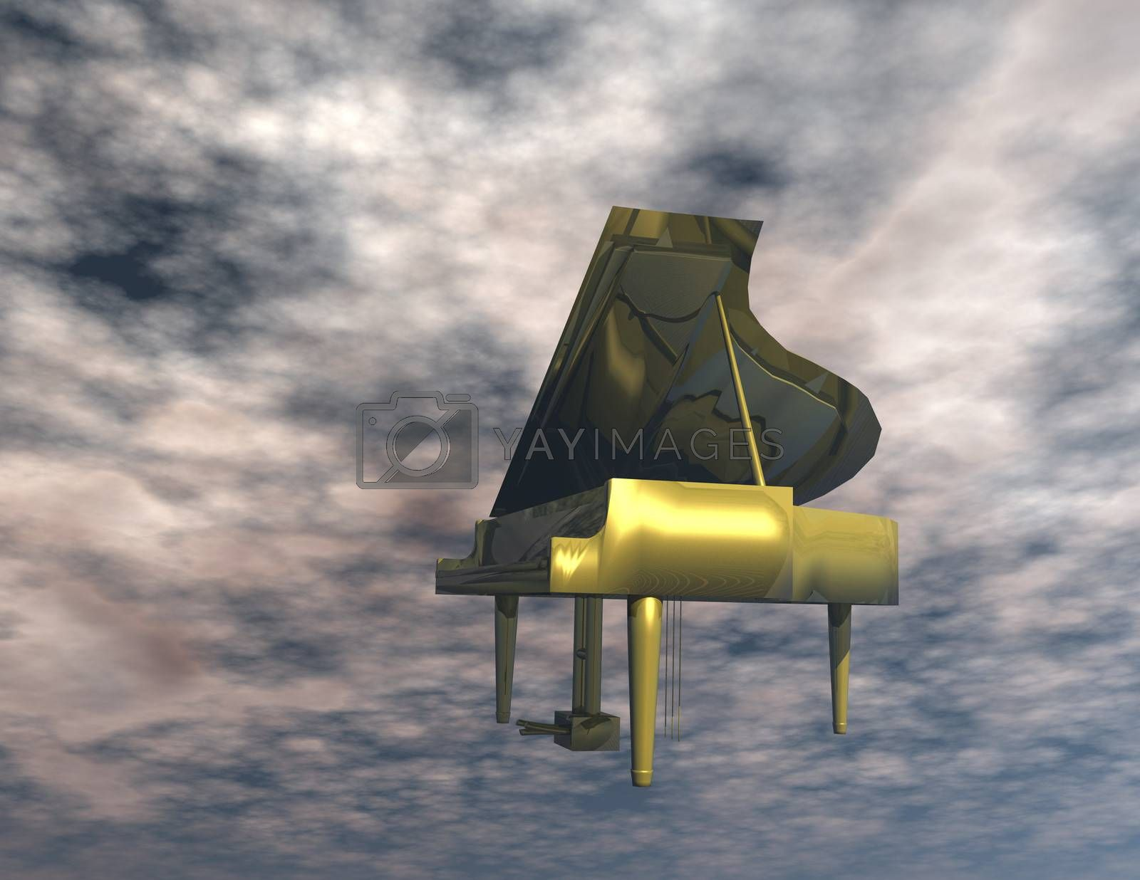 Digital Illustration of a Piano