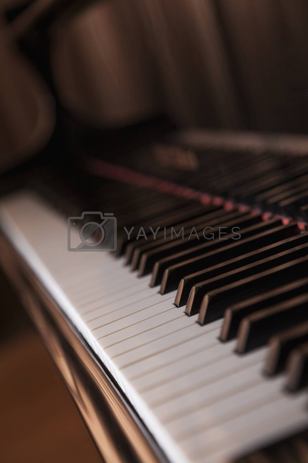 Close-up of piano and piano keys by XiXinXing