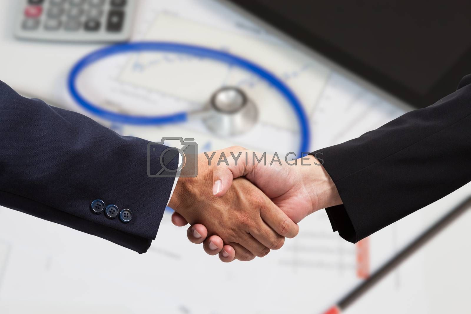 Financial businessman handshake