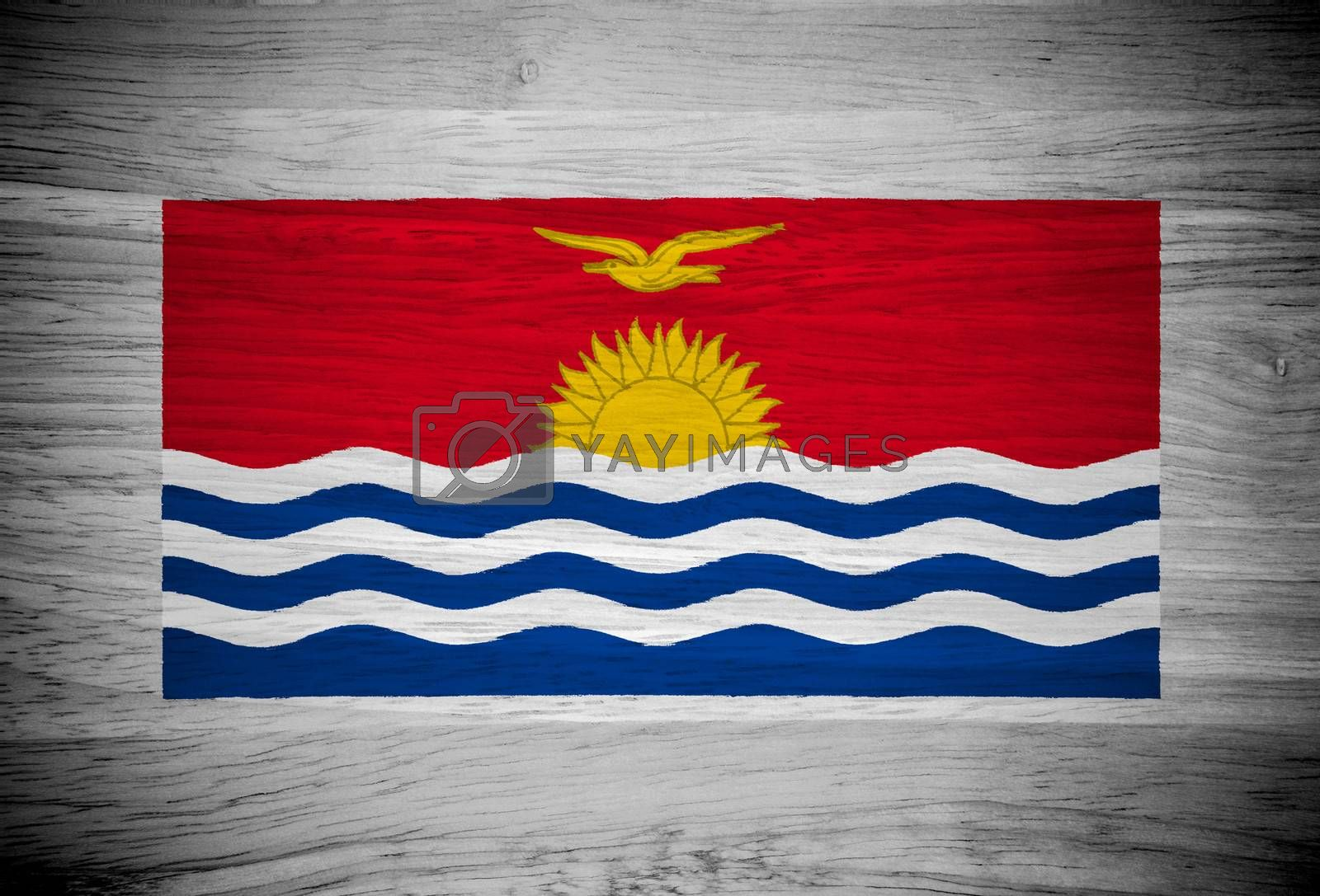 flag on wood texture