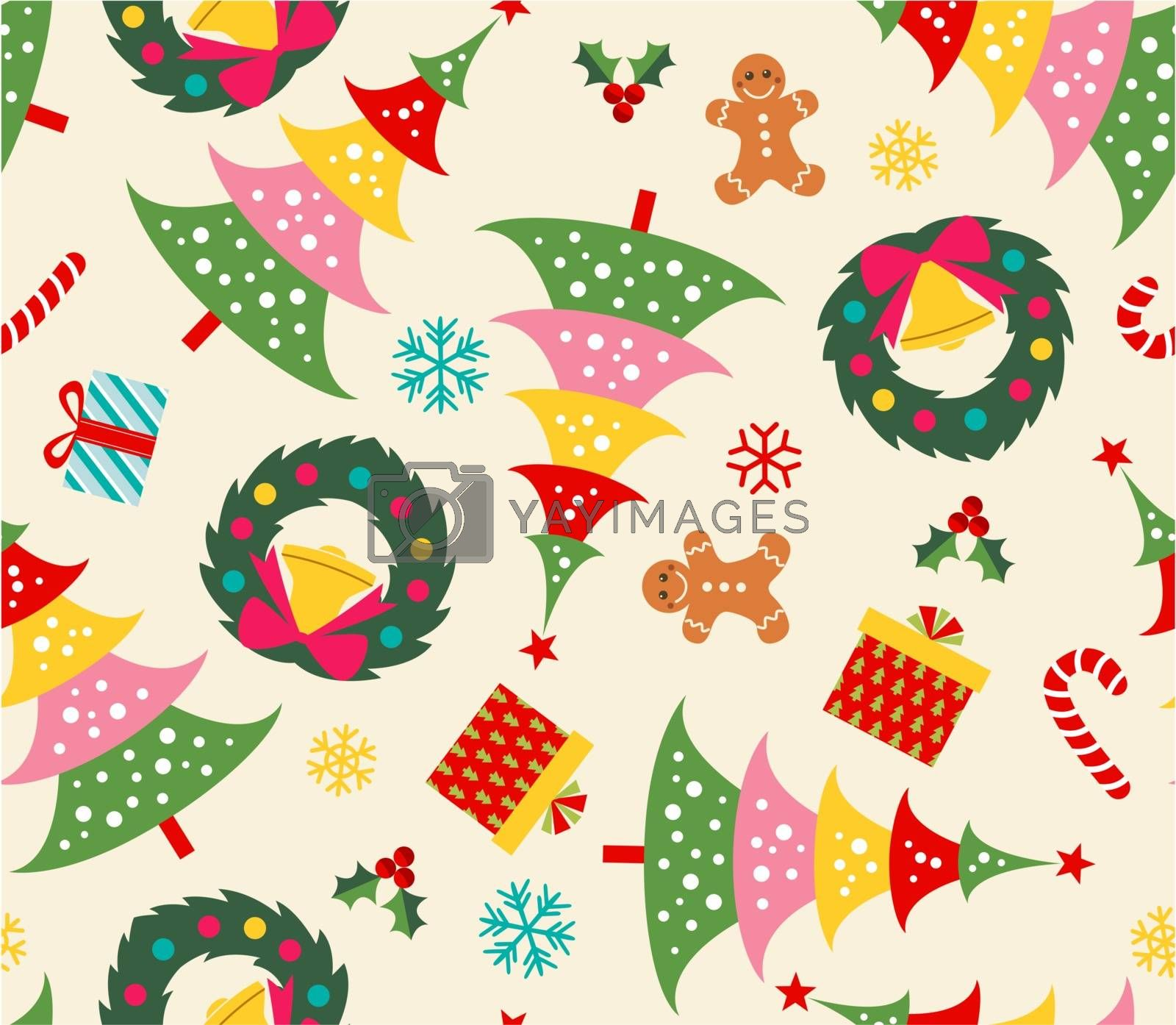 christmas celebration seamless background