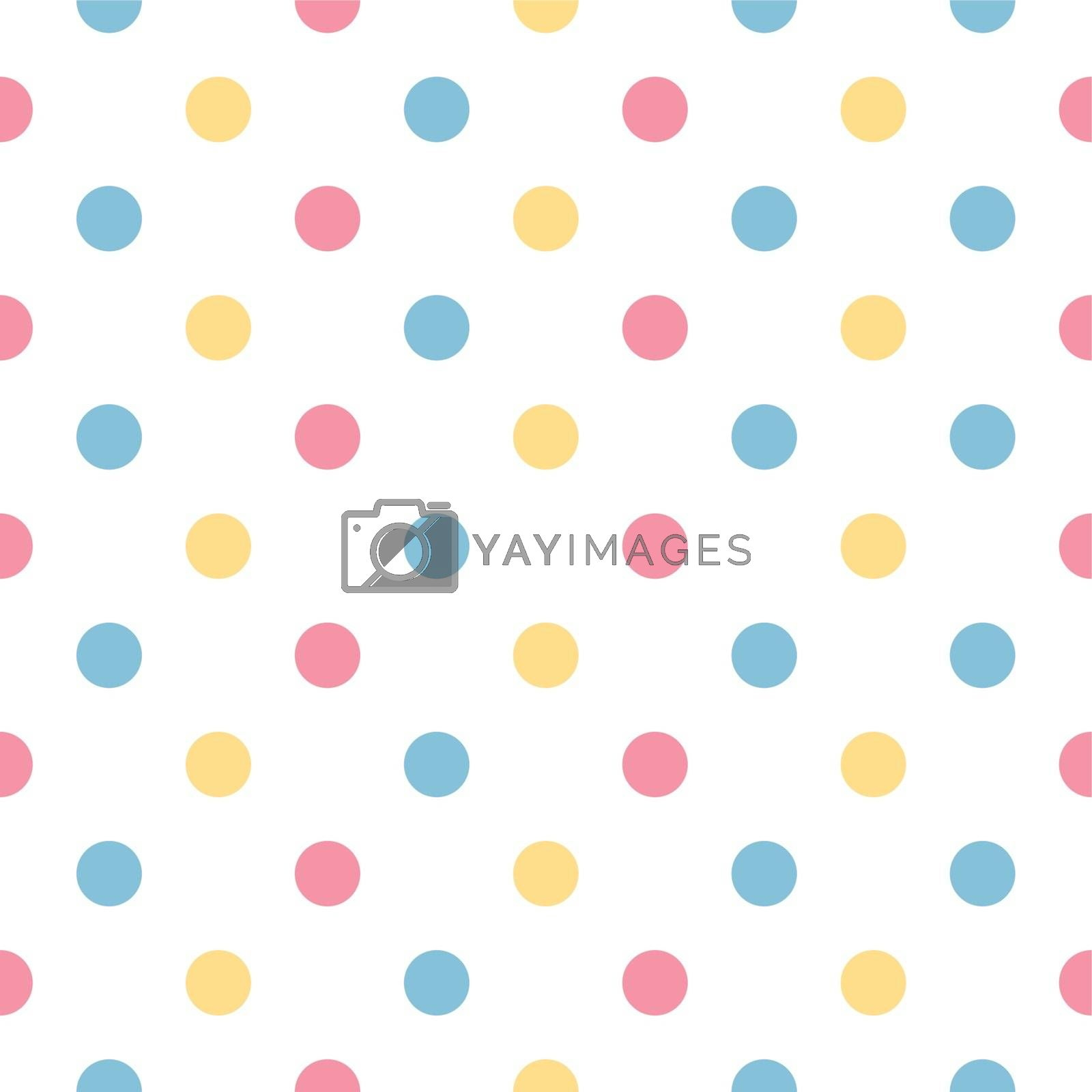 Fresh polka dot seamless background or pattern. Vector