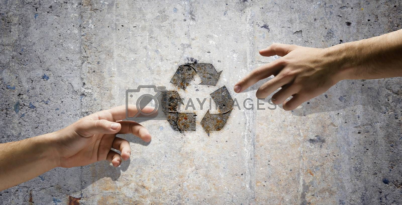 Human interaction to protect our planet. Ecology and environment