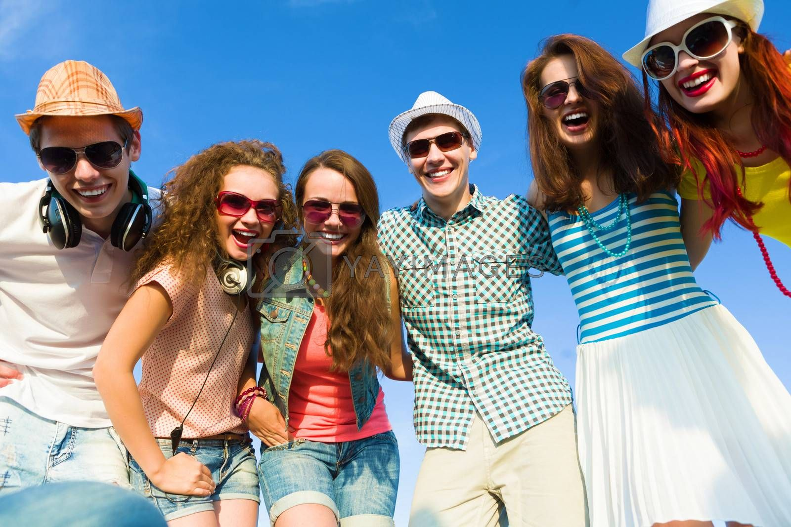 Image of young people having fun. Summer vacation