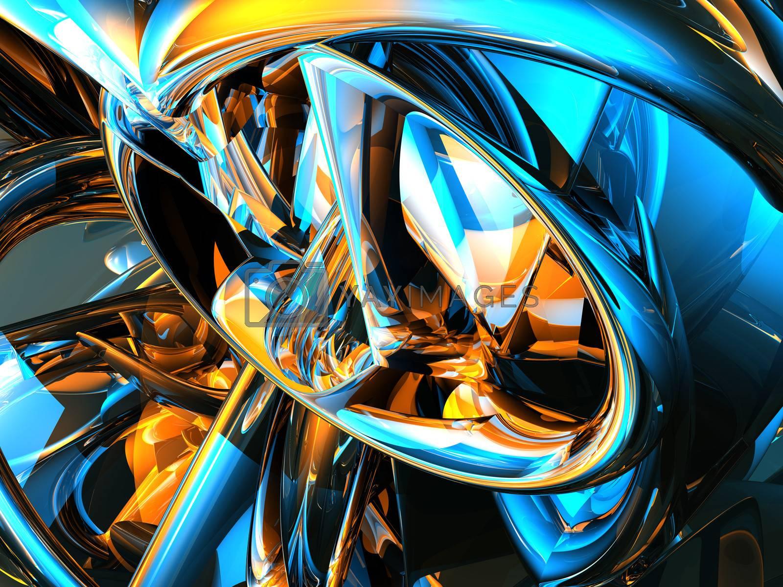 shiny futuristic metal background - 3d illustration
