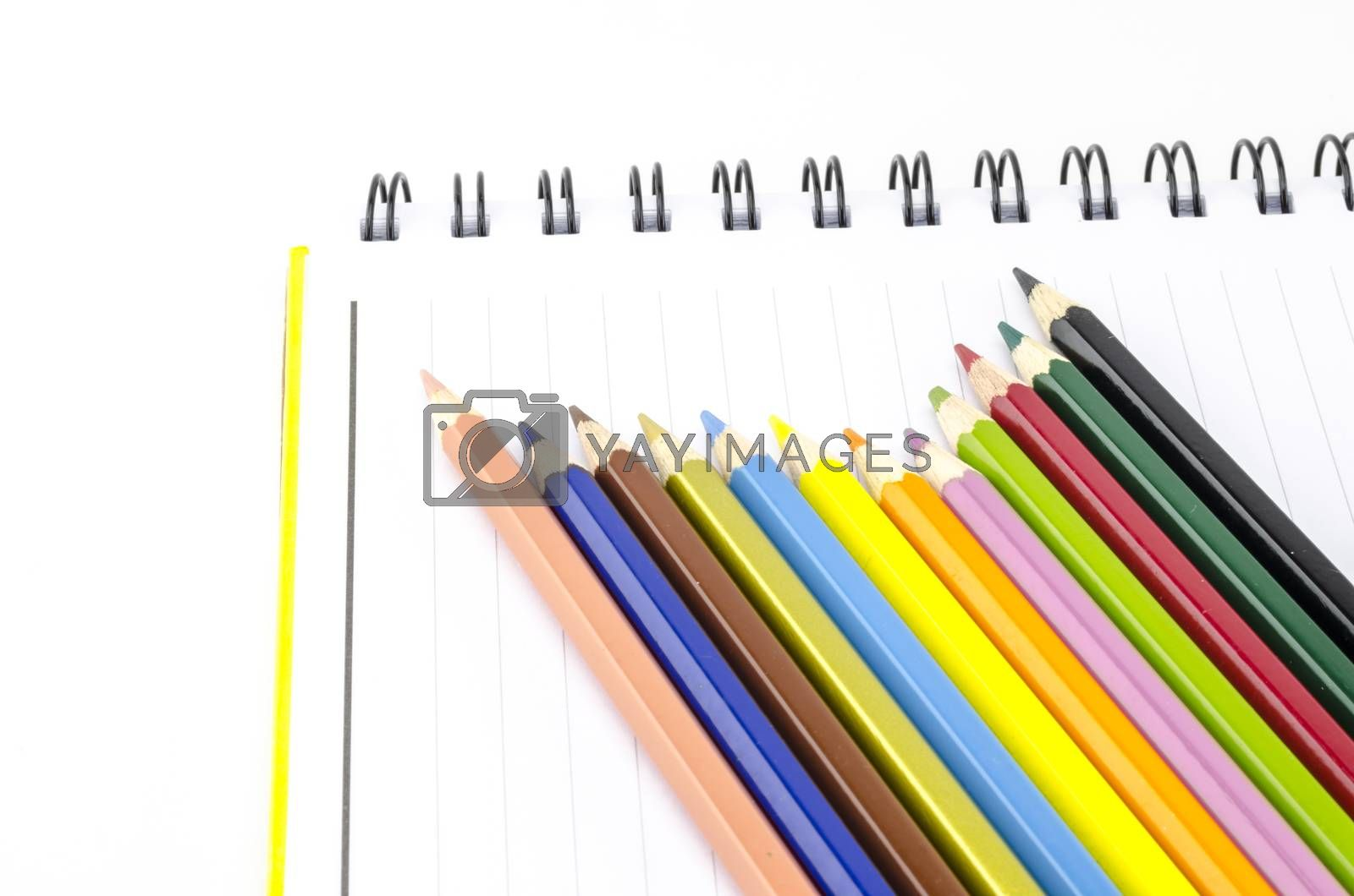 color pencils isolated on white by ammza12