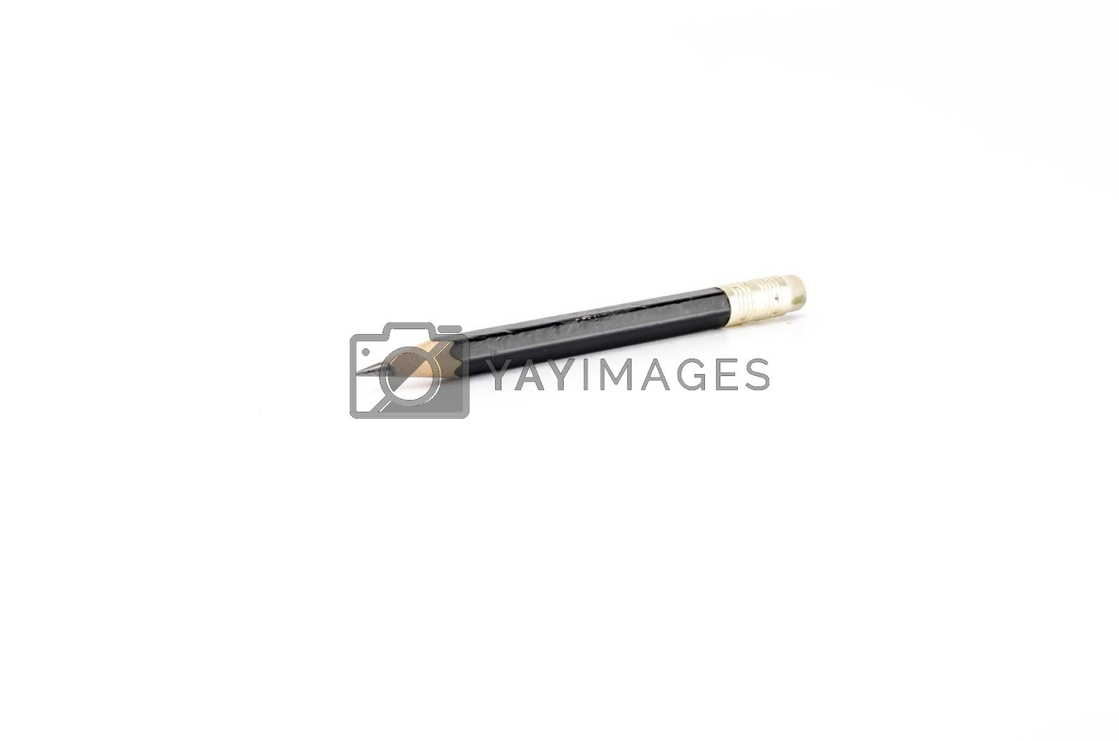 short black pencil isolated on white  by ammza12