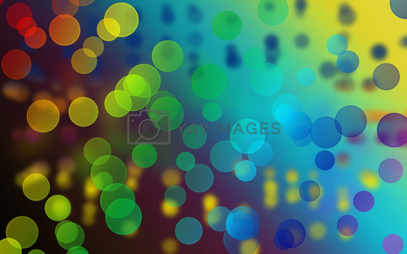 colorfull color circle bokeh on abstract background
