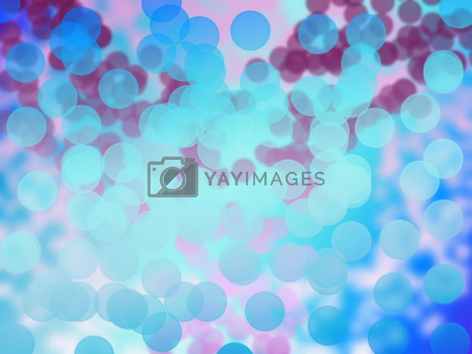 pink blue color circle bokeh on abstract background
