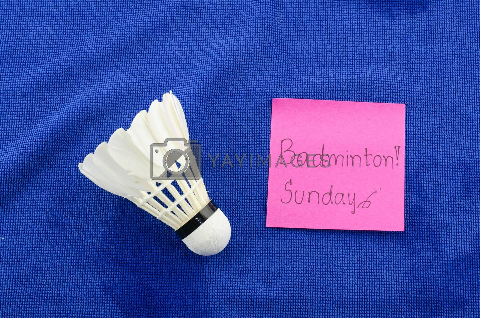 don't forget play badminton on sunday