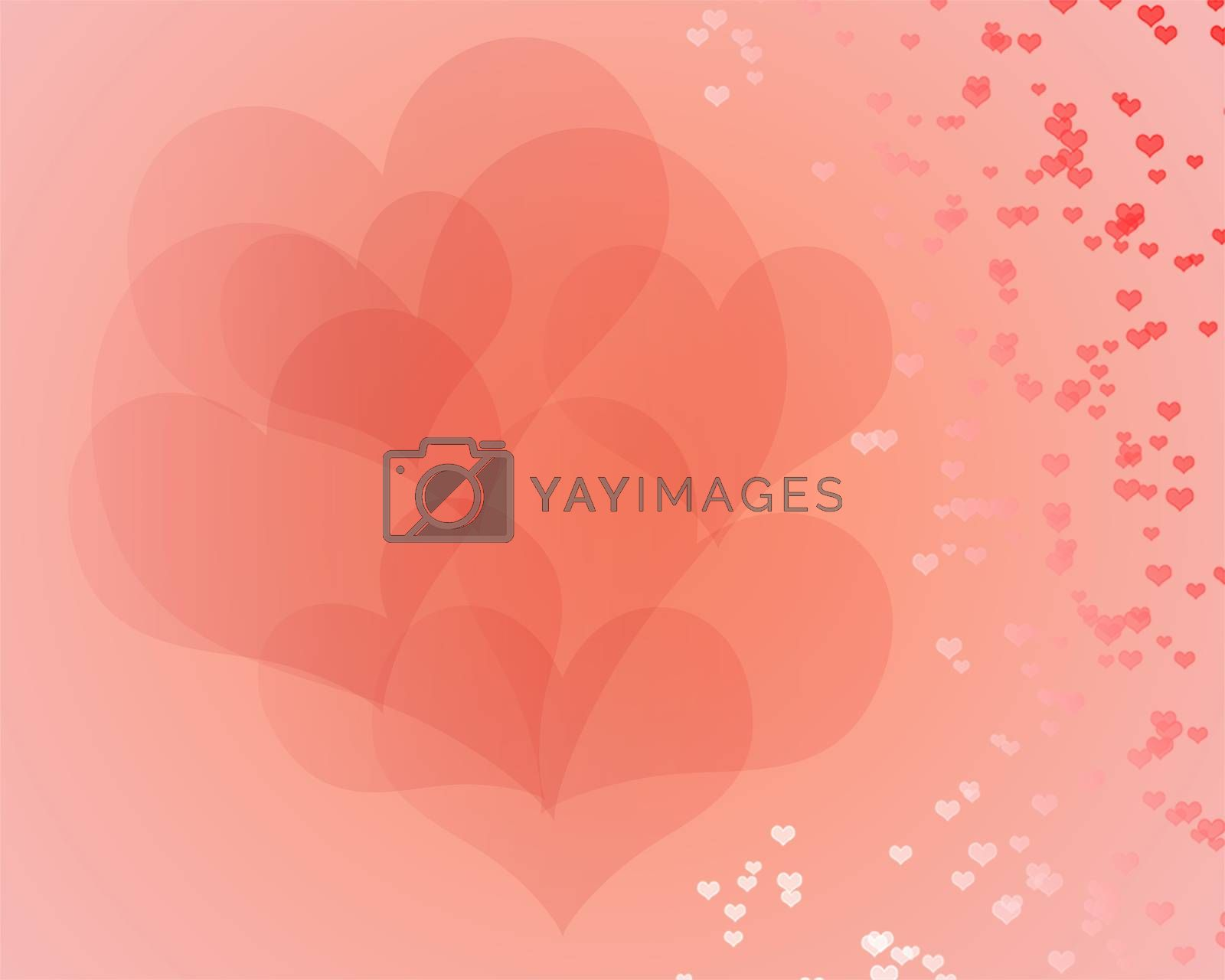 heart of valentine on soft background