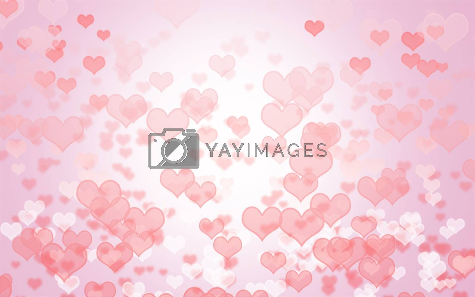 pink tone bokeh of valentine day