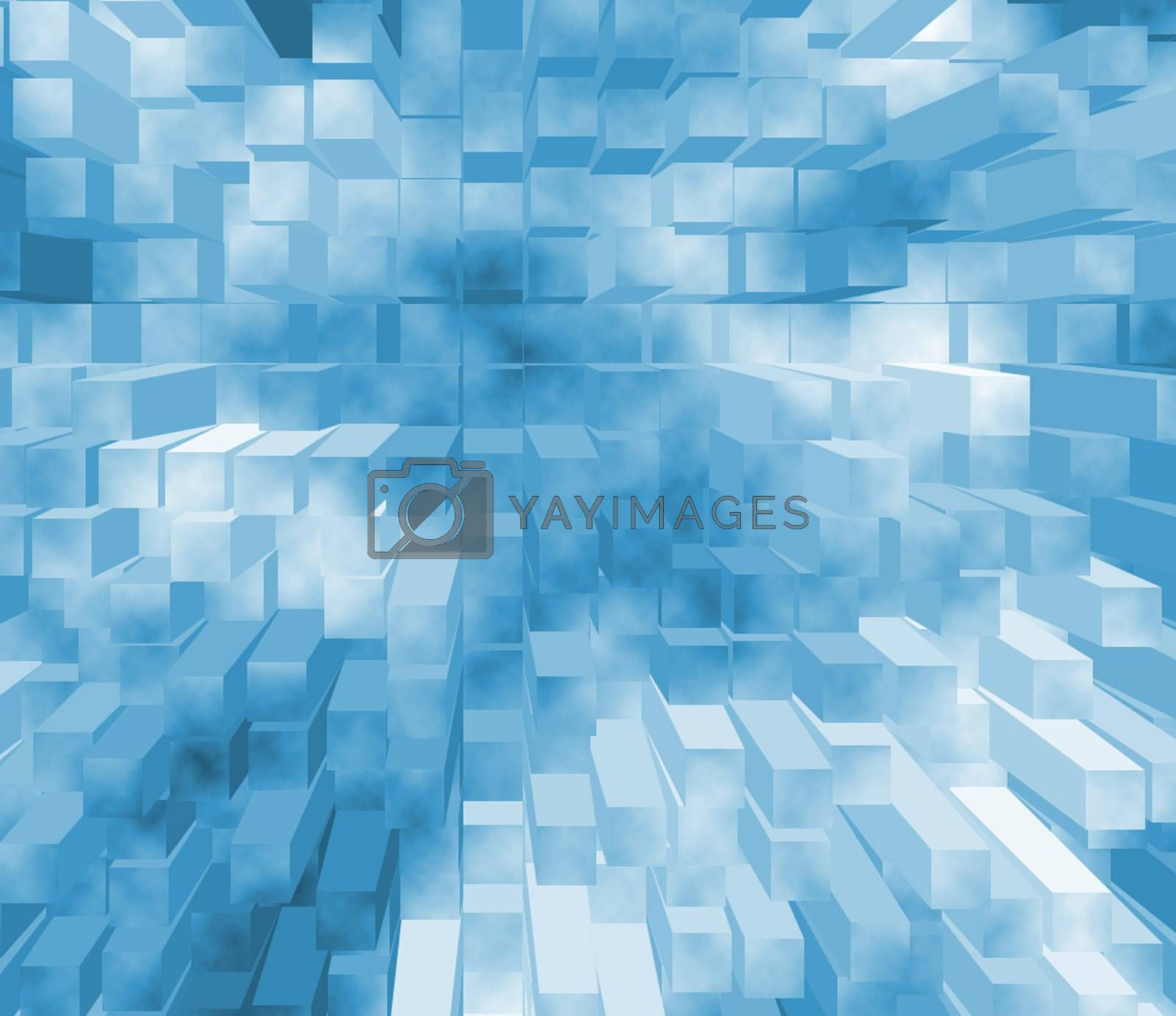 3d abstract background texture in blue color