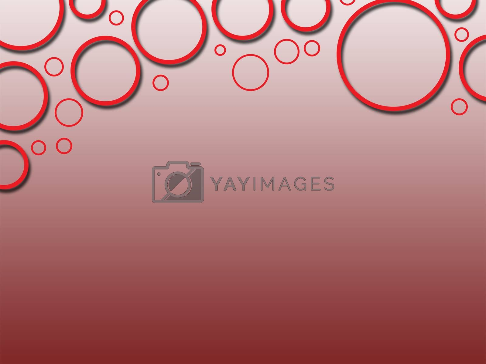 red circle three dee abstract background texture