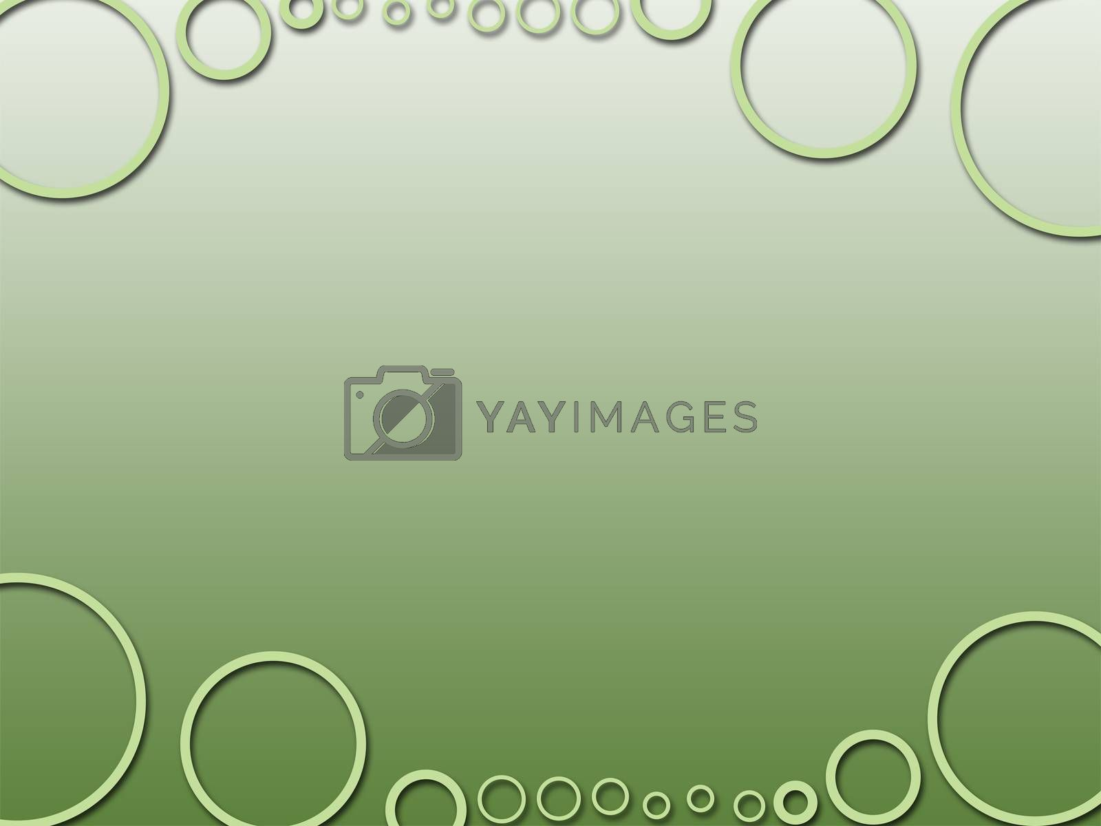 green circle three dee abstract background texture