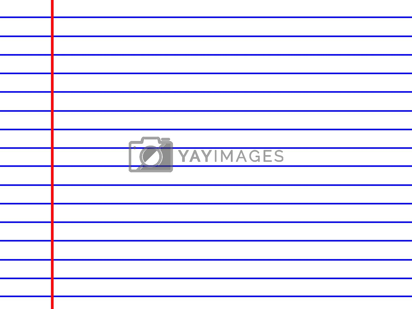 white line paper texture isolated on white background