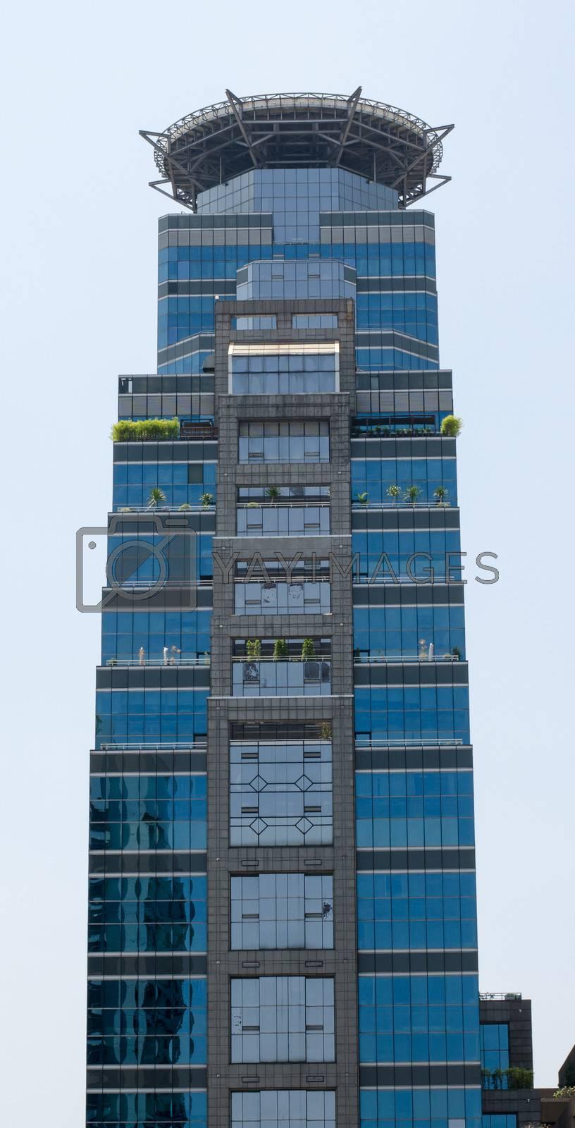 modern building texture in Thailand